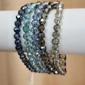 LOFT Teal Jeweled Stretch Bracelet #691